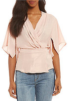 Buffalo David Bitton by David Bitton Sandy Satin Faux Wrap Top