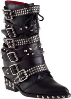 Jeffrey Campbell Draco-Stud Ankle Boot Black Leather