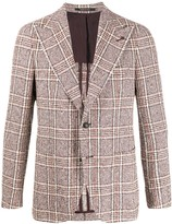 Tagliatore single breasted checked tweed blazer