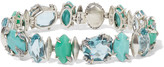 Alexis Bittar Silver-tone multi-stone bracelet
