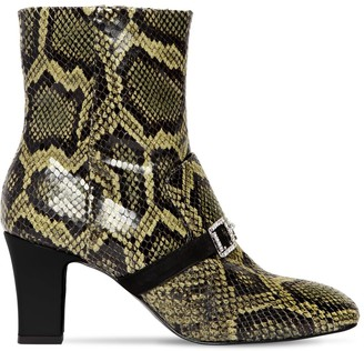 Les Petits Joueurs 70mm Snake Printed Leather Boots