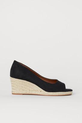 H&M Wedge-heeled Sandals - Black