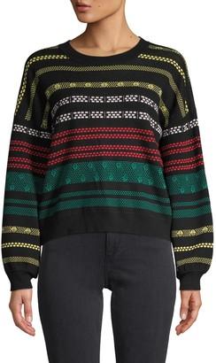 525 America Multicolored Pattern Sweater