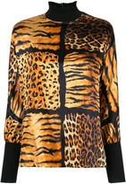 Christian Dior pre-owned leopard print top