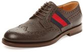 Gucci DHR30 Wingtip Leather Derby Shoe