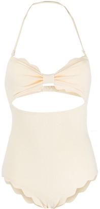 Marysia Swim Scallop-Hem Swimsuit