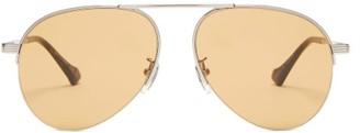 Gucci Aviator Metal Sunglasses - Yellow Silver