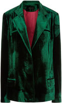 Haider Ackermann Emerald Velvet Single Breasted Blazer