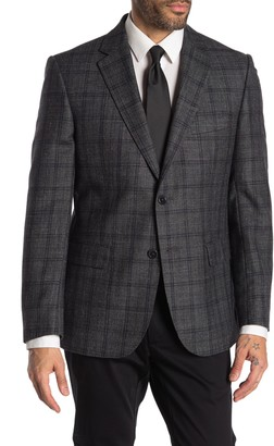 JB Britches Logan Blue Plaid Two Button Notch Lapel Sport Coat