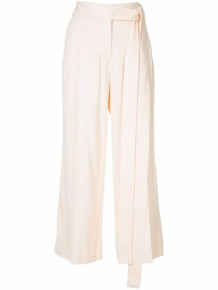 Haider Ackermann Cropped Belted Trousers