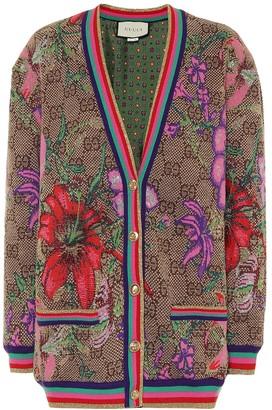 Gucci GG Flora wool-blend cardigan