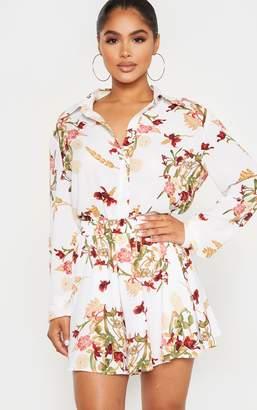 PrettyLittleThing Petite Black Oriental Shirt