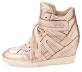 Ash Beck Metallic Wedge Sneaker, Rose Gold