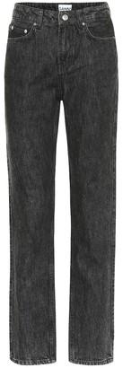 Ganni High-rise straight jeans