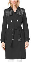 Michael Kors Embellished Sateen Trench Coat