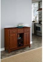 Home Styles Three-Drawer 41.75 in. W Cherry Buffet with Cherry Wood Top