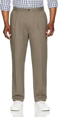 Amazon Essentials Classic-Fit Wrinkle-Resistant Pleated Chino Pant Grey (Taupe) W29/L30