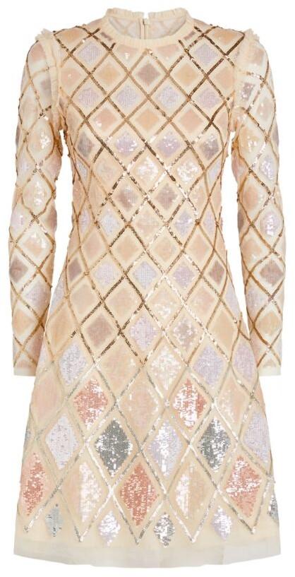 Needle & Thread Sequin Diamond Mini Dress