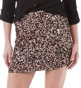 Superdry Womens Narni Sequin Mini Skirt Bronze