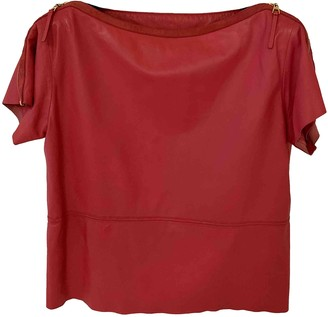 Louis Vuitton Red Leather Tops