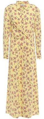 Baum und Pferdgarten Wrap-effect Floral-print Crepe Midi Dress