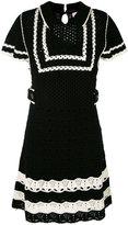 RED Valentino shortsleeved knitted dress - women - Cotton/Polyester/Spandex/Elastane - M