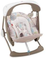 Fisher-Price Deluxe Take-AlongTM Swing and Seat in Mocha Swirl