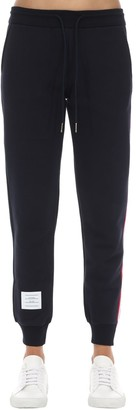 Thom Browne Cotton Sweatpants W/ Logo Stripes