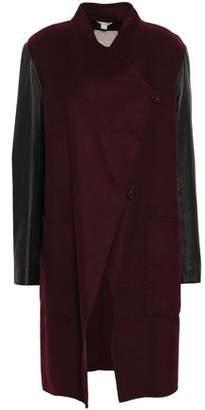 Soia & Kyo Tissia Paneled Wool-blend Felt And Leather Coat