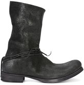 Ma+ silver-tone ringed string boots