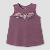 art class Girls' Braided Graphic Eagle Tank Top - Art Class Gray/Pink