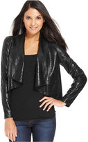 Amy Byer Jacket, Long-Sleeve Open-Front Coated Blazer