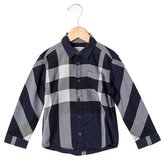 Burberry Boys' Supernova Check Button-Up Shirt