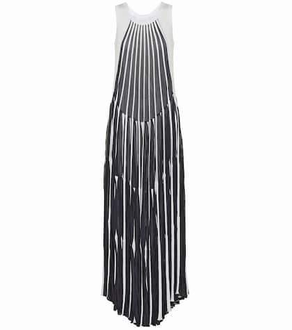 Chloé Cotton-blend striped dress