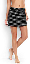 Classic Women's Petite SwimMini Skirt Control-Black Dot