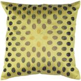 """18"""" x 18"""" Thumbprint Pillow - Green/Green"""