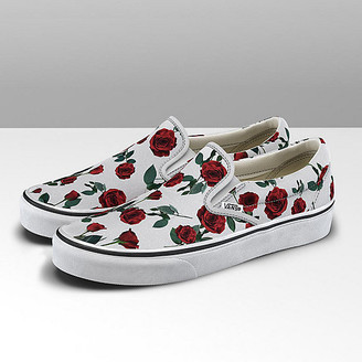 Vans Red Roses Classic Slip-On