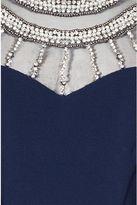 Quiz Navy Embellished Cap Sleeve Fishtail Maxi Dress