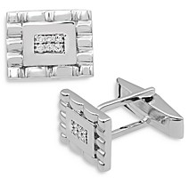 Bloomingdale's Bloomingdales Diamond Cufflinks in 14K White Gold - 100% Exclusive