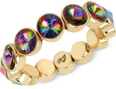 Betsey Johnson Gold-Tone Faceted Stone Stretch Bracelet