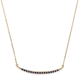 Adina 14K Yellow Gold Sapphire Curve Pendant Necklace, 15 - 100% Exclusive