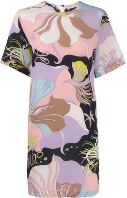 Emilio Pucci Floral Mini Shift Dress