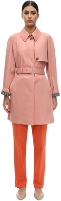 Salvatore Ferragamo Cotton Gabardine Trench Coat