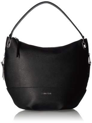 Calvin Klein Mercy Saffiano Leather Hobo