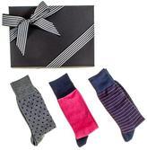 Black Patterned Egyptian Cotton Lisle Socks Gift Set