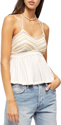 Free People Well Traveled Halter Tank Top