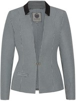 N. Menashion Blazer No.500 Slim Fit Black White