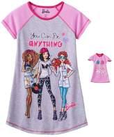 Komar Kids Nightgown for Girls and Matching Doll Nightshirt Sleepwear (Small 6/6X)