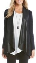 Karen Kane Women's Drape Front Cardigan With Faux Leather