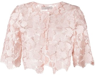 D-Exterior Lace Cropped Jacket